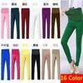 16 color! más el tamaño XXL cintura elástico Casual pantalones de maternidad embarazadas mujeres abdominales vientre Denim pantalones / pantalones / vaqueros ropa