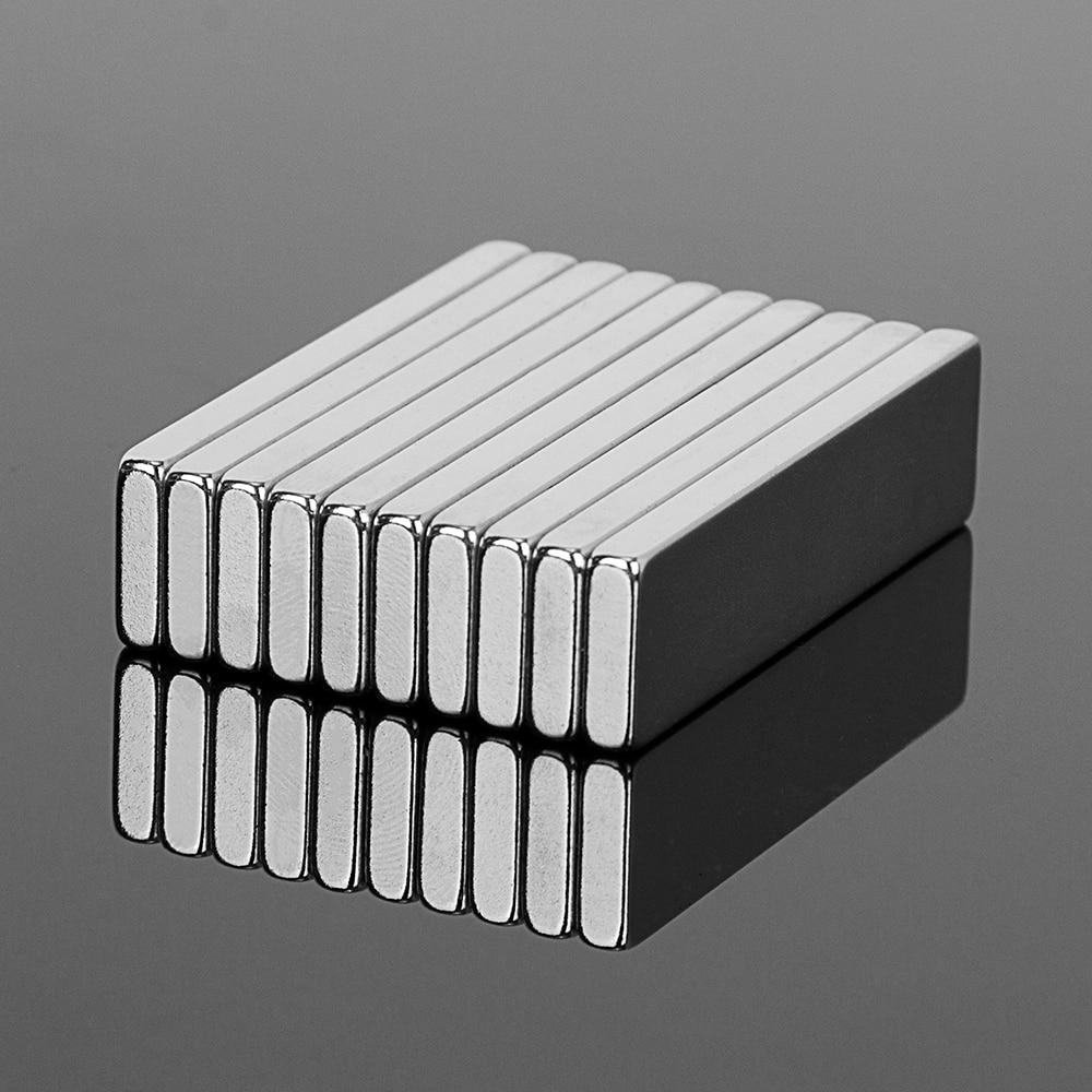 10 stücke 40x10x3mm N52 Super Starke Block Quader Neodym-magneten 40*10*3mm Seltenen Erden Starker Magnet