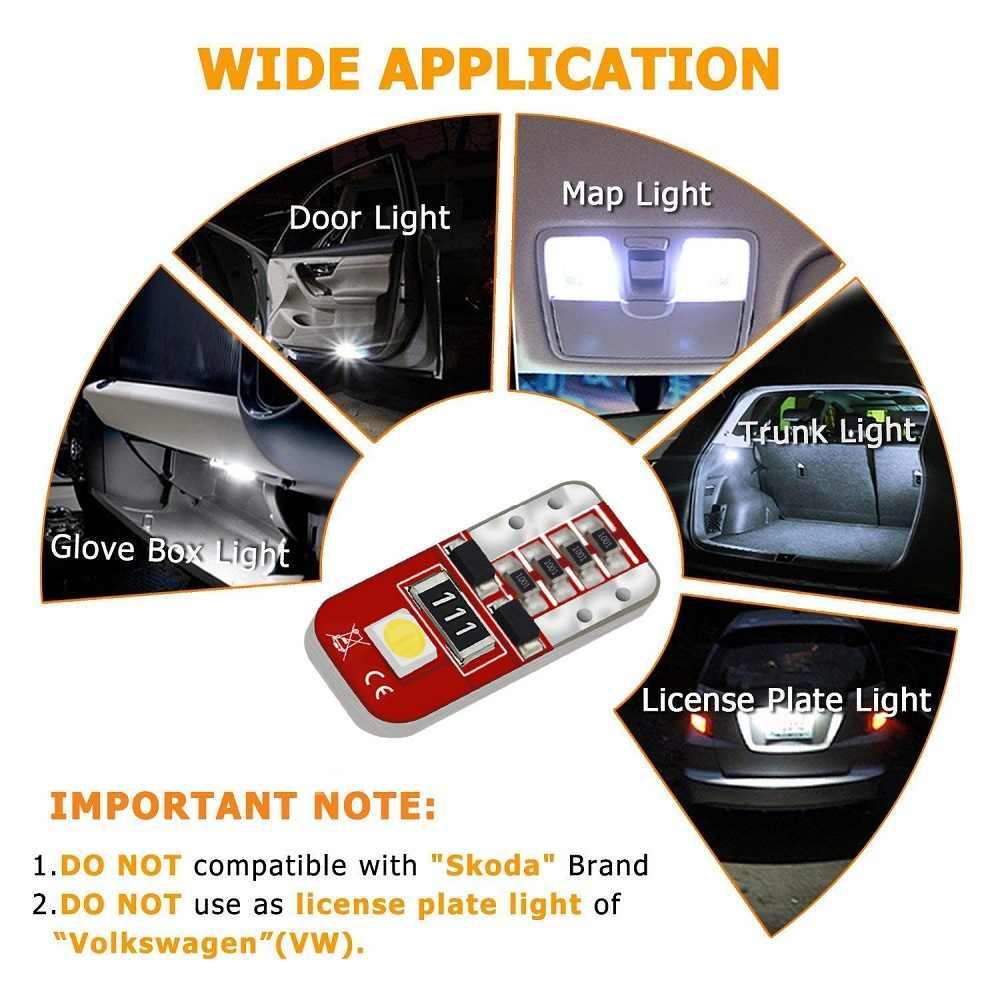 W5W T10 Levou Canbus Lâmpada LED Interior Do Carro Luzes de Estacionamento Para VW Golf 4 5 7 6 Passat B5 B6 b7 Touareg Jetta Tiguan Touran Bora Gol