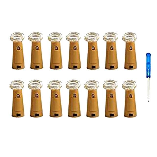 14Pcs guirlande lumineuse LED Night Light Starry Light Wine Bottle Lamp For Party many Decor Cork Shaped Curtain light