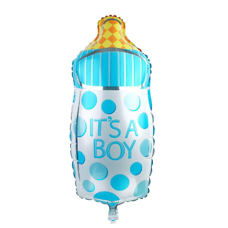 Decorate Home 20 50cm blue pink feeding bottle foil balloons wedding event christmas halloween festival birthday party HY 87 in Ballons Accessories from Home Garden