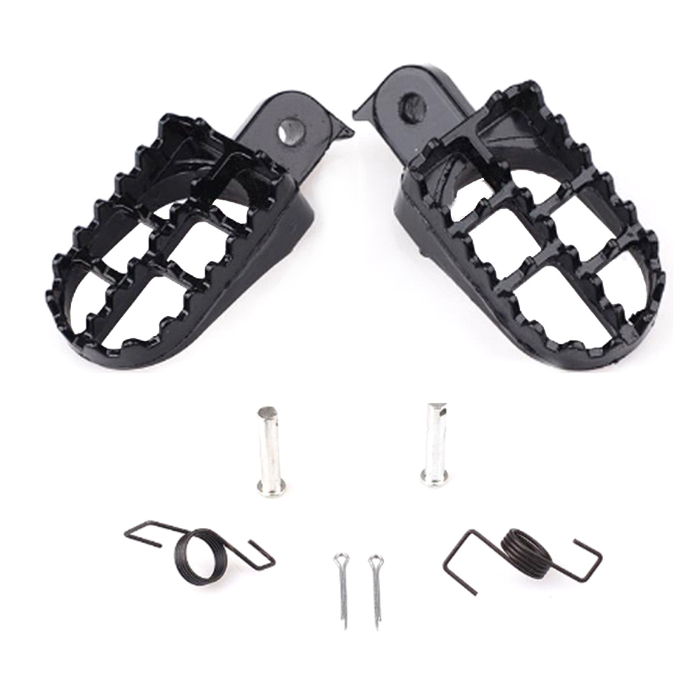New Motocross Wide Fat Foot Pegs Footrest For Honda CR CRF XR 50 70 80 100 Yamaha Kawasaki KLX110
