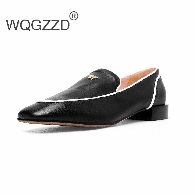 Da Metallo Mocassini 2018 Zapatos Scarpe Di Piatto Genuino Nuovo In Mujer  Decorazione Marca Size Oxford Donna Casual Pelle 43 OHOxvqF 3313b823bb8