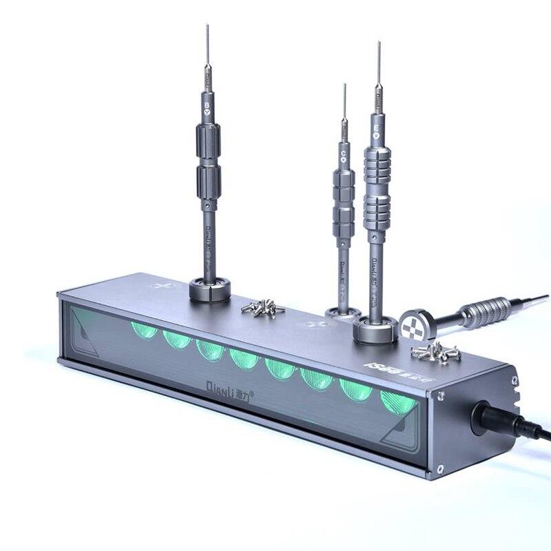 Qianli isee tela lcd lâmpada de reparo poeira impressão digital risco detecção graxa luz pesquisa para reparação do telefone remodelação