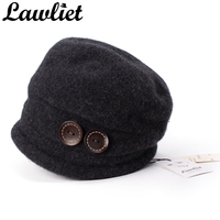 T178 2016 Fashion Beret Women Winter Wool Hats Elegant Ladies Knitted Hats Ear Protect Casual Cap