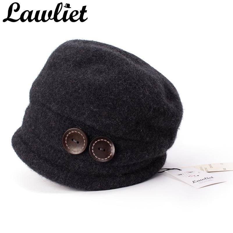 Lawliet Winter Hats For Women Beanies Warm Wool Knitted Hat Ladies Crochet Skullies Beanies Girl Gorro Ski Cap T178