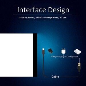 Image 4 - 調光対応! 超薄型A4 ledライトタブレットパッドに適用eu/イギリス/au/us/usbプラグダイヤモンド刺繍ダイヤモンド塗装クロスステッチキット