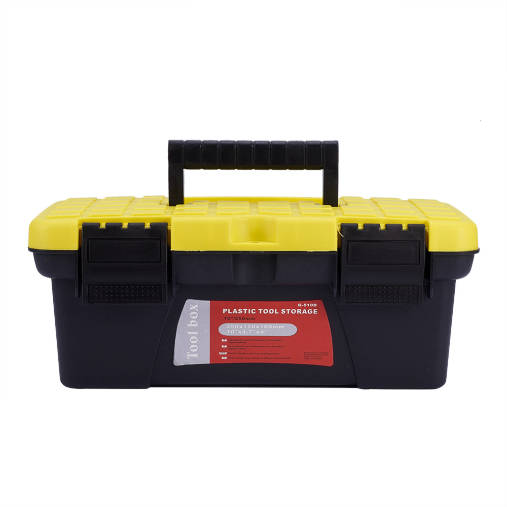 AUMOHALL Plastic Toolbox Portable Hand Carry Car Repair Tool Storage