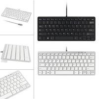 2017 Top Sale New Ultra Thin Slim 78 Key Wired USB Mini PC Keyboard For PC