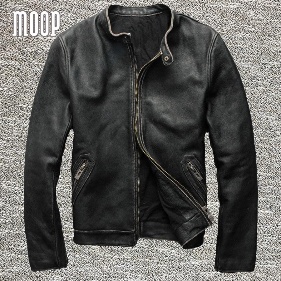 plus size vintage genuine leather coat men 100 cowskin. Black Bedroom Furniture Sets. Home Design Ideas