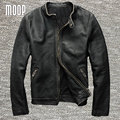 Plus size vintage genuine leather coat men 100% cowskin motorcycle jackets chaqueta moto hombre veste cuir homme cappotto LT825