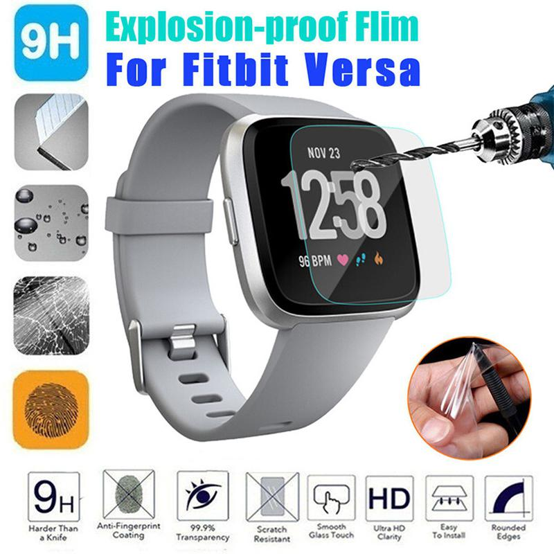 1Pcs/2 Pcs HD Tempered Glass LCD Screen Protector Film For Fitbit Versa Smartwatch Sporting Goods Accessories Drop Shipping R30