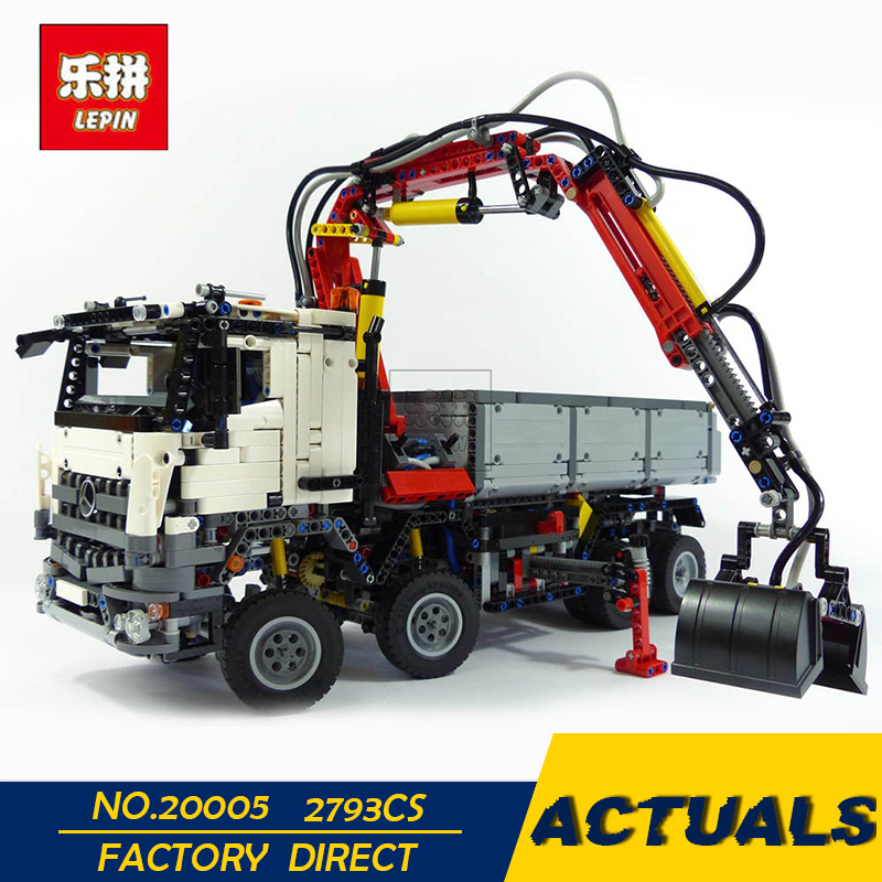 LEPIN 20005 Technic series Model Building Block Bricks Compatible 42043 Mercedes-Benz Arocs 3245 Toys Educational Birthday Gifts lepin technic series building bricks 20005 2793pcs arocs truck model building kits blocks compatible 42043 boys toys gift