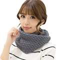 New Arrival Women Scarves Pure Neck Woolen Knitted Autumn Winter Scarf Women Warm Shawls 2 Circle Cable Knit Long Ring Scarf