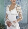 Лето аппликации кружево болеро длинный рукав свадьба куртки и обертывания для свадьба Estola де пеле