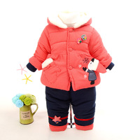 Hot Winter Velvet Kids Clothes Baby Girls Clothing Set Children Clothes Sets Toddler Girl Clothes Korean 2018 New 2pcs Coat+Pant