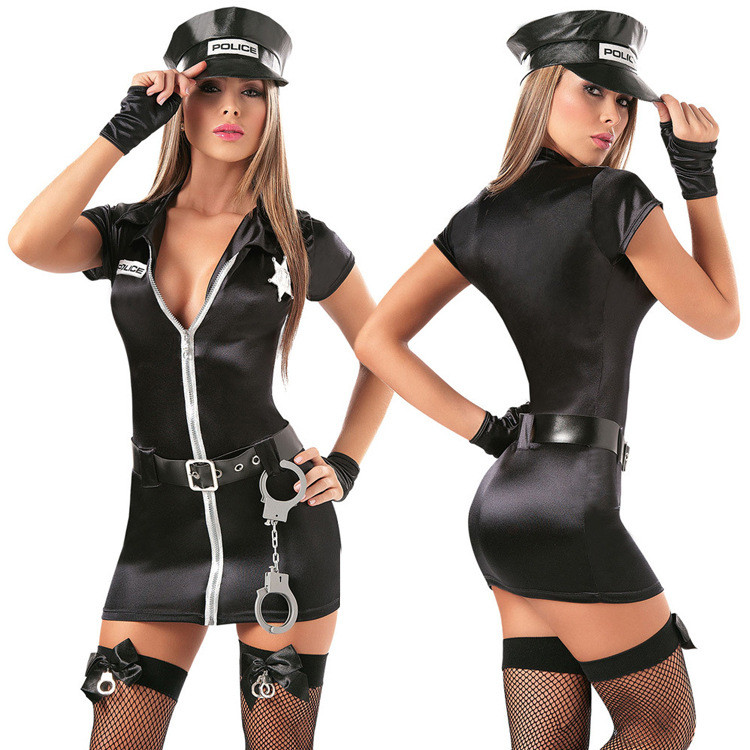 NEW ADULT AND GIRLS  BLACK PINK WPC FISHNET STOCKINGS POLICE FANCY DRESS