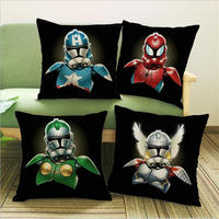NEW Printed Cotton Linen Pllow Case Star Wars And The Avengers Alliance High Quality Pillow Cover Pillowslip For Home Hotel A399