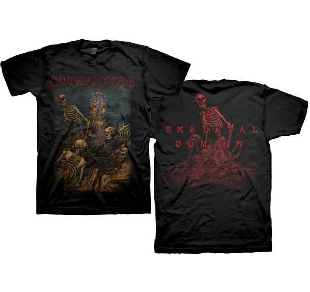 CANNIBAL CORPSE - Skeletal Domain - T SHIRT S-M-L-XL Brand New Official T Shirt