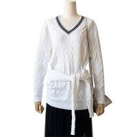 Tunjuefs Lolita Twist Sweater Women 2019 New Autumn Striped Jumper High End Sashes Sweater Winter Pullovers Knit Tops Pull Femme