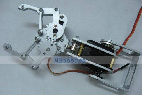 Free shipping 2 dof machine arm claws robot arms paw is 5 3cm maximum angle