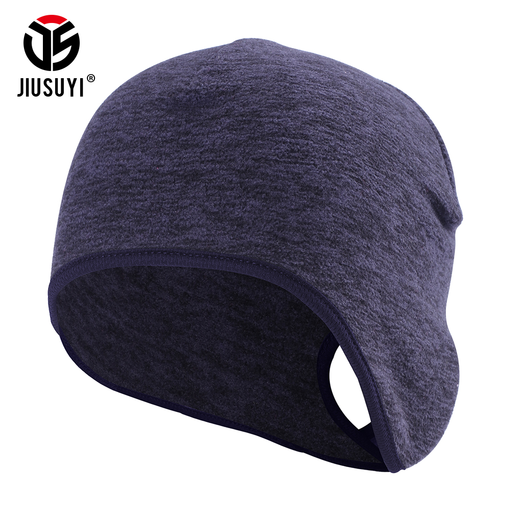 Women's Ponytail Hole Cap Winter Polar Fleece Warmer Bonnet Ear Cover Cold Weather Thermal Bicycle Sweat Hat Bun   Skullies     Beanie
