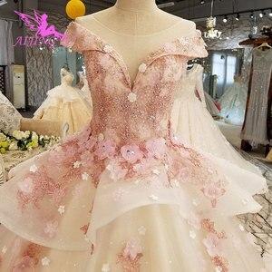 Image 1 - AIJINGYU טורקיה כלה שמלת שמלות הודי Sheer Robe אמא של הכלה במסיבה שני באחד שמלת כלה קטנה שמלות