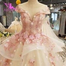 AIJINGYU türkiye gelin elbise abiye hint sırf elbise anne gelin parti iki bir elbise Petite düğün elbiseler