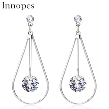 Innopes fashion jewelry cubic zirconia earrings crystal stud earring women accessories minimalist earrings gifts for women цена