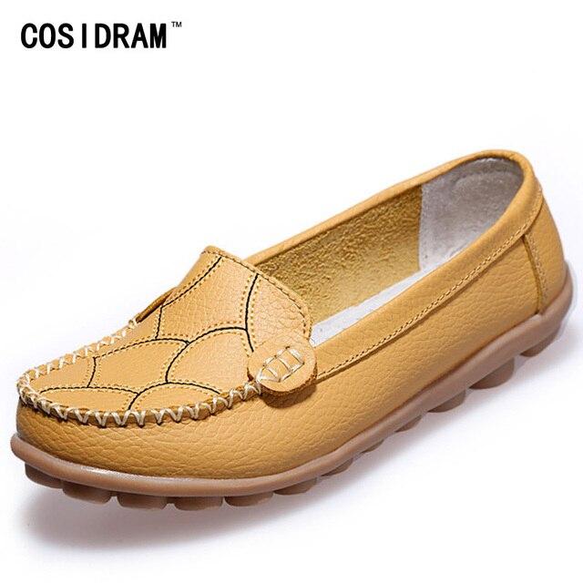 Удобные женские Квартиры 2016 Новое Прибытие Обувь Из Натуральной Кожи Женщины Мокасины Лето Весна Лодка Обувь Повседневная Мокасины BSN-603
