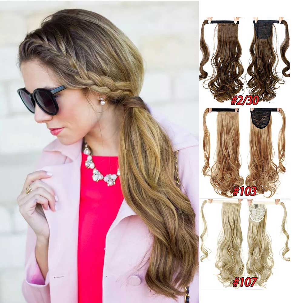 HiDoLA fashion Sexy Ladies Ponytails Long Straight Curly Wrap Around Ponytail PonyTail Hair Extensions headwear in Women 39 s Hair Accessories from Apparel Accessories