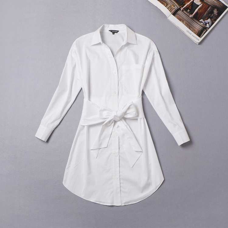 Fashion 2015 OL white shirt women tops cardigan office ladies ...