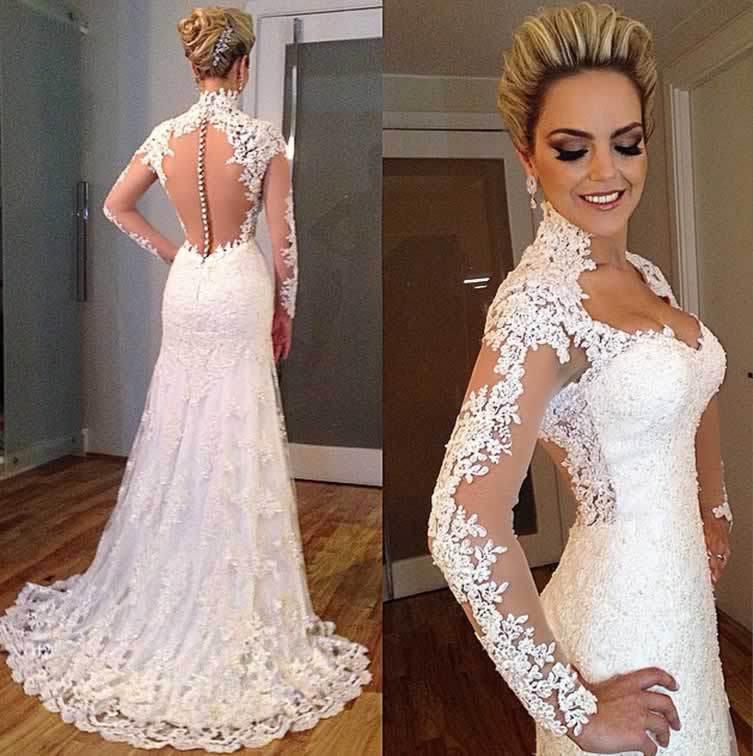 vestidos de novia con aplicaciones – mini vestidos