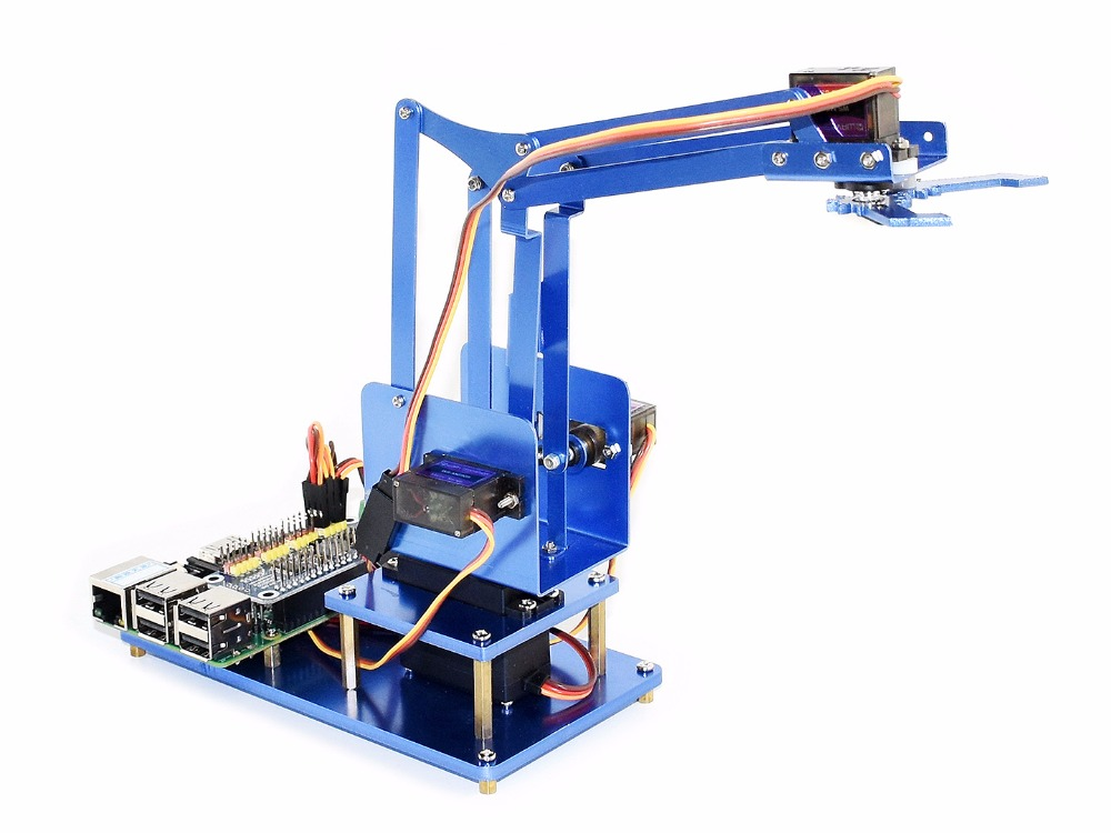 แขนหุ่นยนต์สำหรับ Pi (ยุโรป) raspberry Pi 4 DOF โลหะแขนหุ่นยนต์ควบคุมได้ง่ายแขนโดยโทรศัพท์สมาร์ทผ่านบลูทูธหรือ WiFi-ใน บอร์ดสาธิต จาก คอมพิวเตอร์และออฟฟิศ บน AliExpress - 11.11_สิบเอ็ด สิบเอ็ดวันคนโสด 1