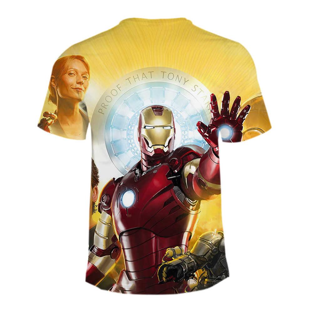 גברים/נשים קצר שרוול Superhero T חולצה זכר מגניב חולצות טי נוקמי 3 אינפיניטי מלחמת איש ברזל 3D הדפסה מהיר יבש חולצה