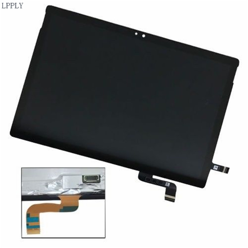 LPPLY NEW LCD Assembly For Microsoft Surface Book 1703 LCD Display Touch Screen Digitizer Flex Cable
