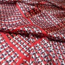 Silk Chiffon Fabric Summer New Dress Plaid Printed Dropping