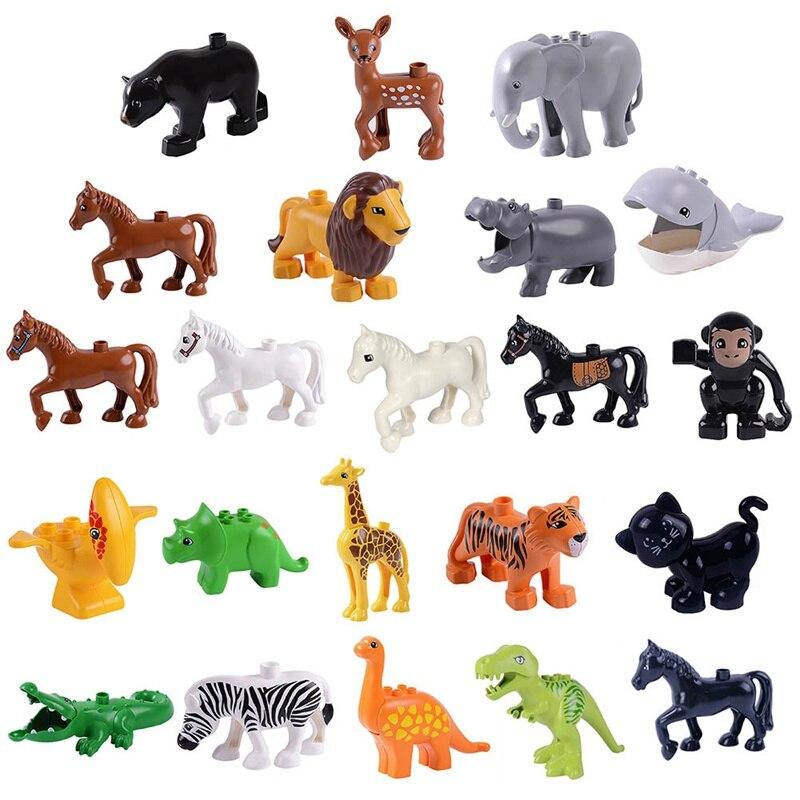 1 Pcs Animal Serie Model Cijfers Dinosaurussen Leeuw Grote Bouwstenen Dieren Educatief Speelgoed Voor Kids Kinderen Gift Blokken Mooi Van Kleur