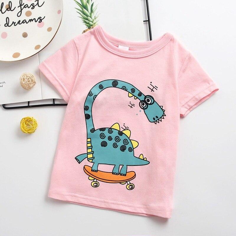Girl T-Shirt Tops Tees Short-Sleeve Toddler Baby-Boy Kids Cotton Children Casual Cartoon