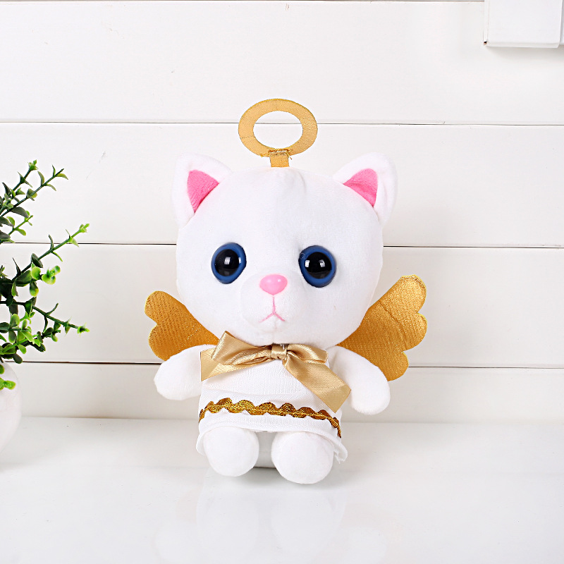 Christmas Toy Gift Hot Anime Toy Story Stuffed Toys Supply 7inch Angel Cat Model Plush Dolls Small Kitty Cat