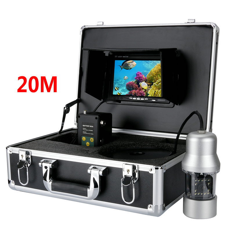 7 inch monitor 20M Cable 360 Degree View Underwater Fishing Camera System Remote Control Fish Finder Express Shipping buy monitor cable