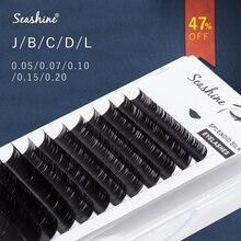Seashine All Size Individual Eyelashes Extension BCDL Curl High Quality False Mink Lash Classical False Eyelash Extension Cilia недорого