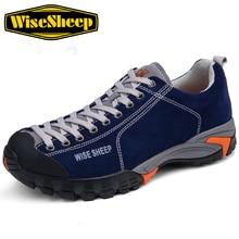 Wisesheep Men's Outdoor Trekking Hiking Shoes Sneakers For Men Leather Climbing Mountain Hiking Shoes Sneakers Man camssoo men s outdoor trekking hiking shoes senderismo sneakers for men sports climbing mountain jogging shoes sneaker man
