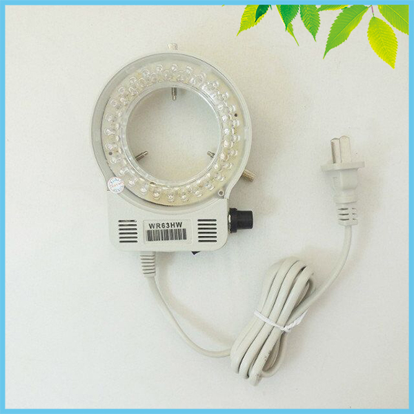 цены  64mm Inner Diameter UV LED Ring Light Brightness Adjustable LED Ring Lamp for Microscope Illumination