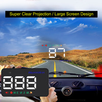 HUD Head Up Display Proyector 3.5 inch Car Head Up Display Km/h & Speeding MPH Advertencia Parabrisas Proyector Sistema Plug and jugar