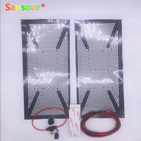Truck Bus Mirror Glass Heated Pad Mat Defoggers Remove Frost Fit Most DC 12V Vehicle Side