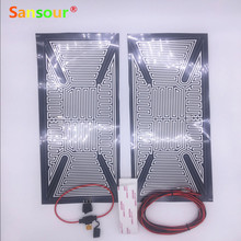 Sansour Truck Bus Mirror Glass Heated Pad Mat Defoggers Remove Frost Fit Most DC 12V Vehicle