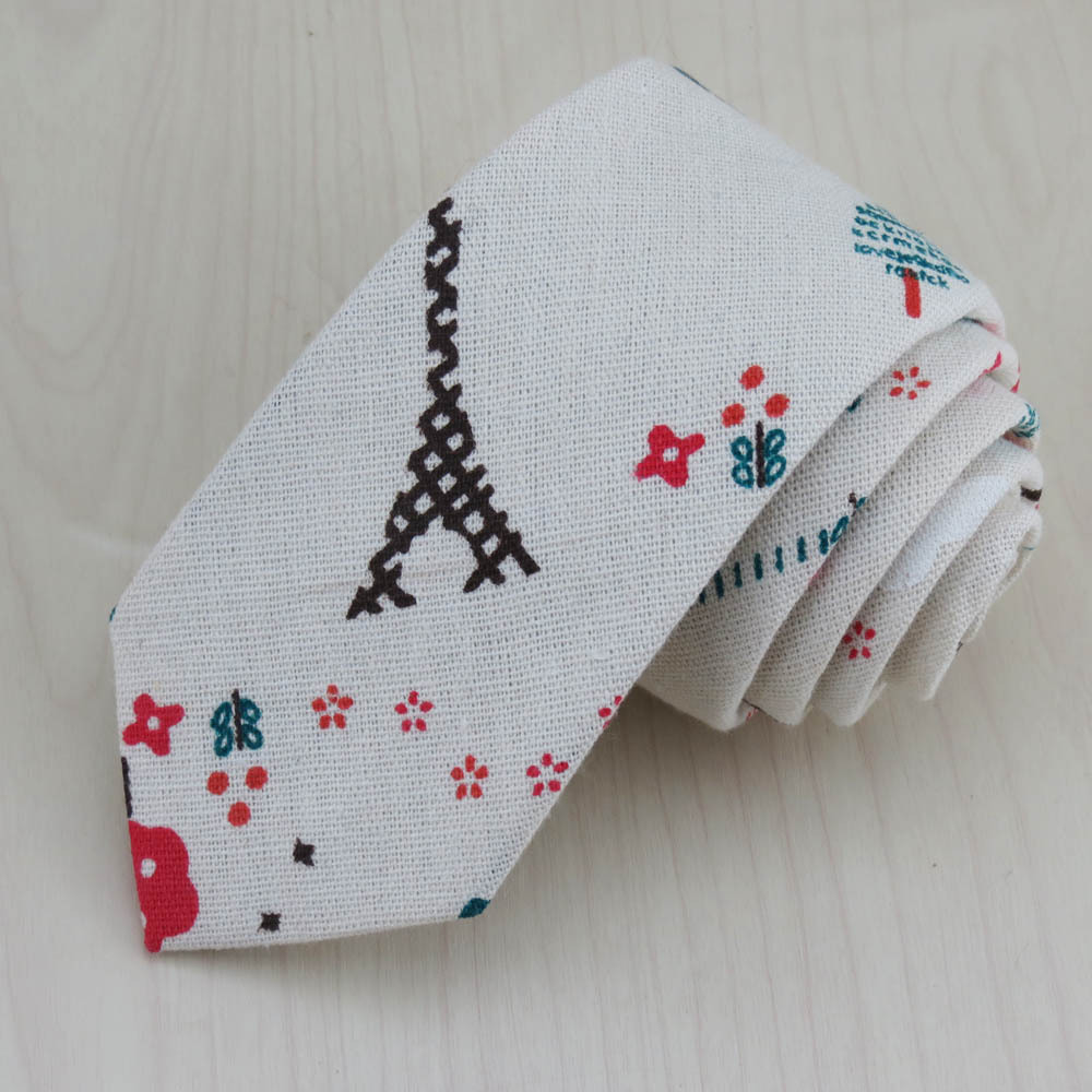 (1pcs/lot)With small red flowers and green trees design tie/Leisure fashion han edition Handsome sunshine type