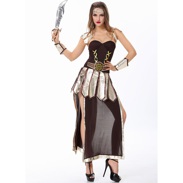 Greece Gladiator costume Halloween Costume for women warrior costumes sexy party dresses  sc 1 st  AliExpress.com & Greece Gladiator costume Halloween Costume for women warrior ...