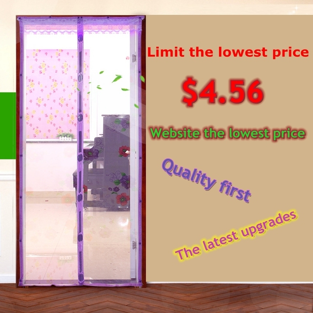 Summer Mosquito Curtain Kitchen Bedroom Partition Fly Magnetic Screen Door  To Avoid Wear Lace Cloth Screen